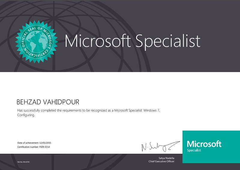 Microsoft Certified Specialis Windows 7 Configuring